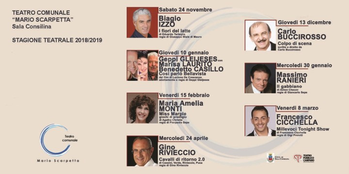 CARTELLONE TEATRO SALA CONSILINA 2018-19